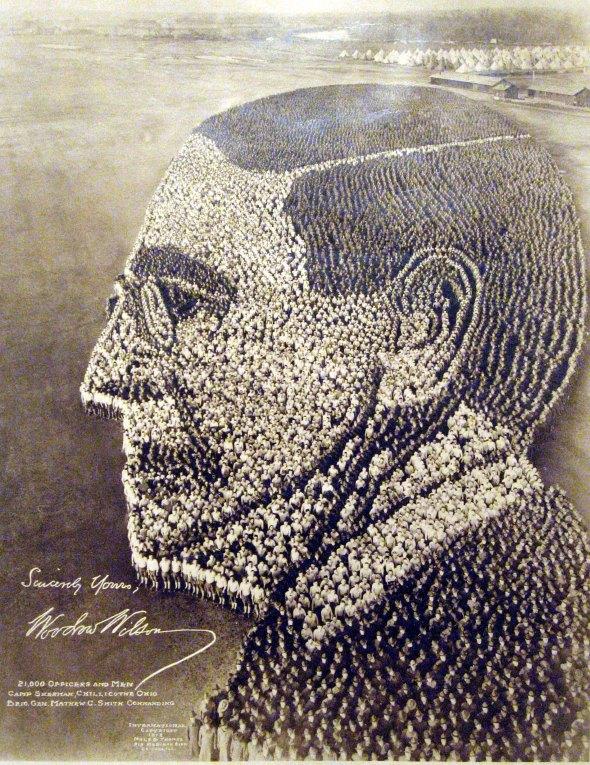 Living Portrait of Woodrow Wilson, 1918