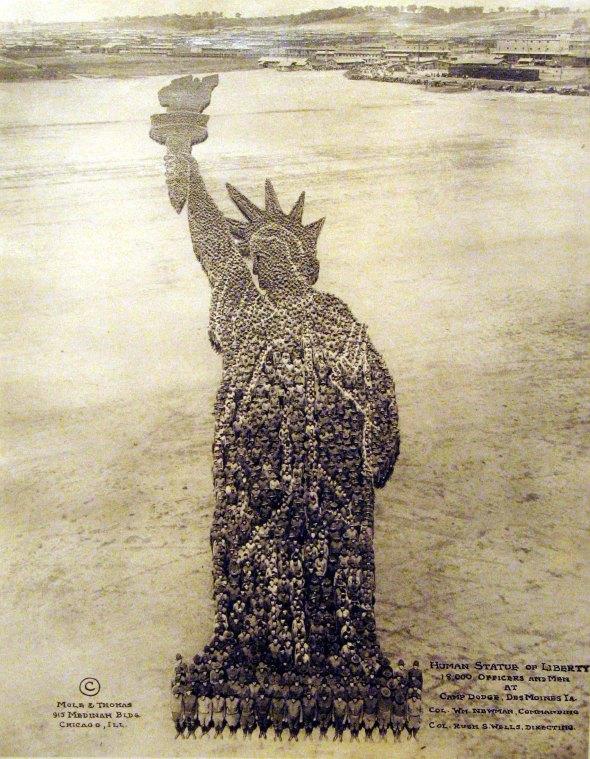 Human Statue of Liberty, c. 1918