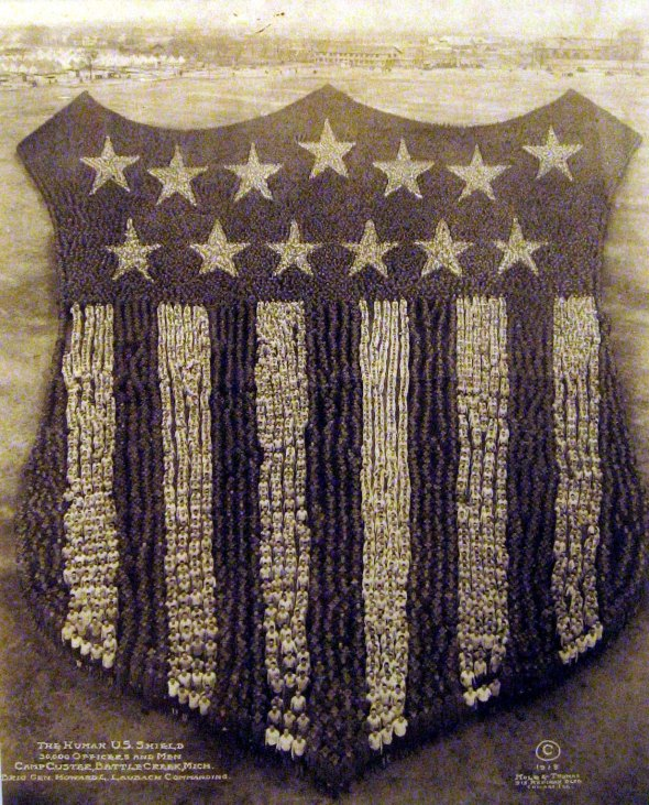 The Human U. S. Shield, 1918