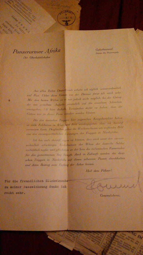 Rommel's Letter