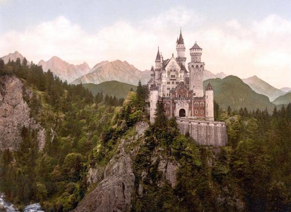 Neuschwanstein Castle. c. 1900