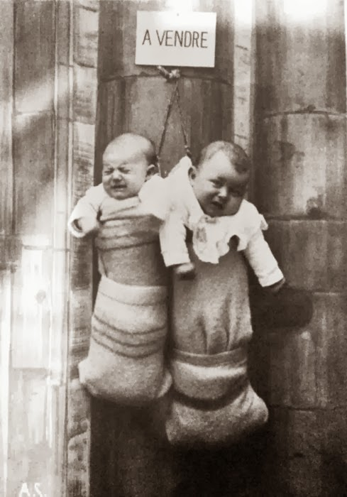 Unwanted babies for sale in France - early 1940's [489x700]