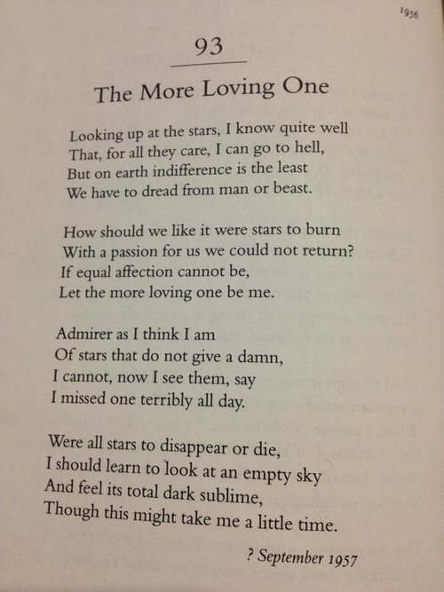 Wh Auden I Love You I Hope To Be Remembered For My Atrocities