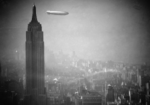 How bad-ass of an arrival would that have been? Pulling into NYC on a blimp attached to the tallest building in the city.