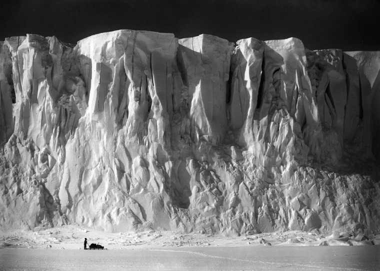Barne Glacier, Scott Expedition, Antarctica, by Herbert George Ponting 1911