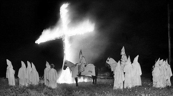 Ku Klux Klan Meeting.