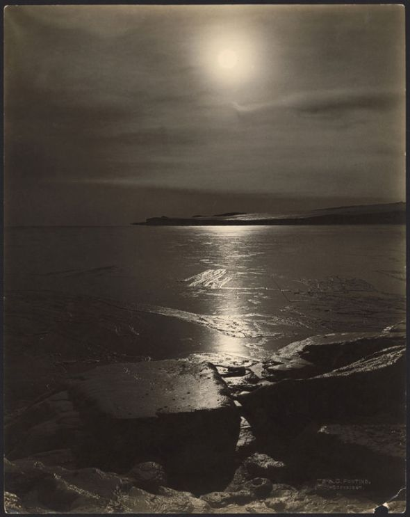 Sun Across the Ice, Antarctica, by Herbert George Ponting, 1911