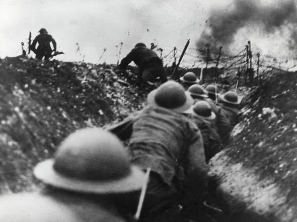 "WWI (""The Great War"") was the most insane thing ever. I can't fathom how anyone made it through it. All war is terrible and full of horrors but I just think between 1914-1918 it was elevated beyond."