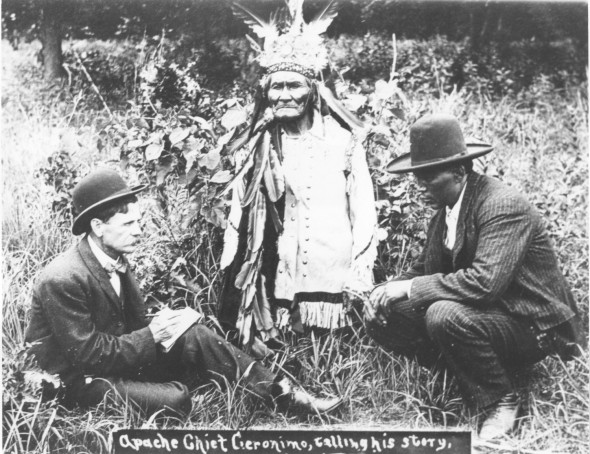 """Geronimo Telling His Story"" - Fort Sill, Oklahoma 1905"