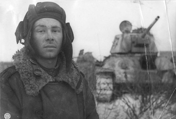 This man before the war, worked as a teacher of drawing and singing in the village. He and other members of the crew died inside tank burned by germans