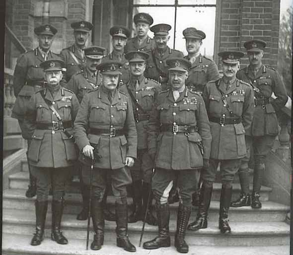 BEF_commanders_and_chiefs_of_staff_1918