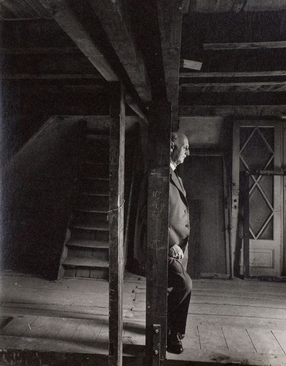 Otto Frank, Anne Frank's father and only surviving family member, revisiting the attic, May 3rd, 1960 [700x897]