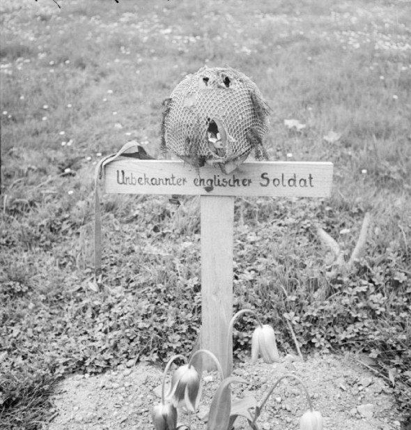 The photo was taken after the liberation of Arnhem in April 1945, although the soldier died in September 1944.