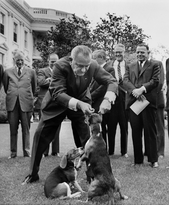 To be fair Lyndon Johnson wasn't all that nice to humans, either.