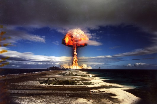 Image result for france explodes nuclear bomb 1968 images