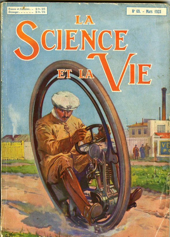 The smaller model featured in French magazine Science and Life: June 1923.