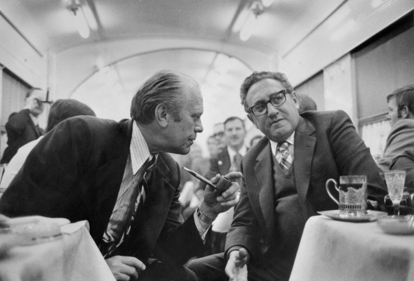 President Ford Discussing Progress with Henry Kissinger