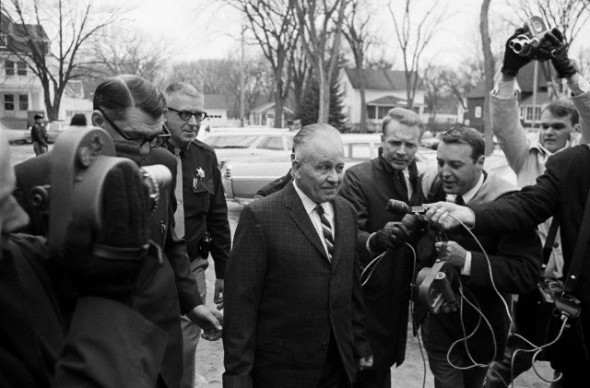 Ed Gein With Police And Reporters